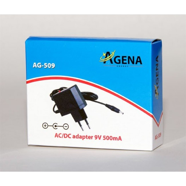 Agena Energy AG-509 9V 500mA AC/DC adapter