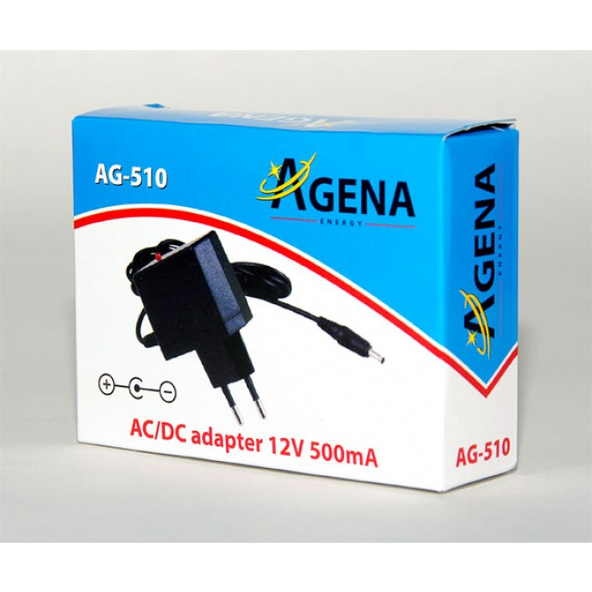 Agena Energy AG-510 12V 500mA AC/DC adapter