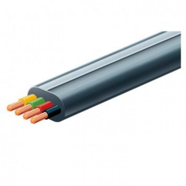 Kabel PGA4LC/BK telefonski 4-žilni pljosnati crni 4x0,12mm