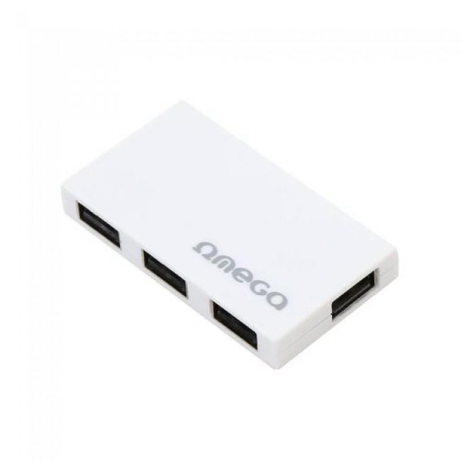 Omega OUH24BBW beli USB hub 2.0 4-port