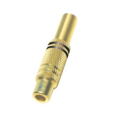Činč RCA21G pozlaćena CRNA utičnica za kabel
