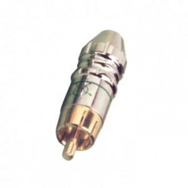 Činč utikač metalni pz. teflon za 6,2mm ZELENI RCA14G