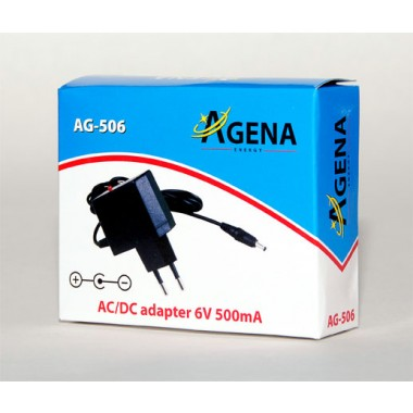 Agena Energy AG-506 6V 500mA AC/DC adapter