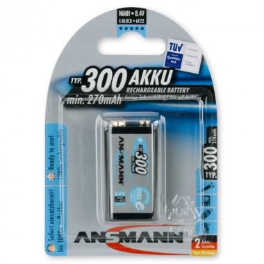 Ansmann maxE 9V 300mAh Ni-MH punjiva baterija