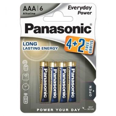 Panasonic Alkaline Everyday Power LR03 4+2 1.5V alkalna baterija