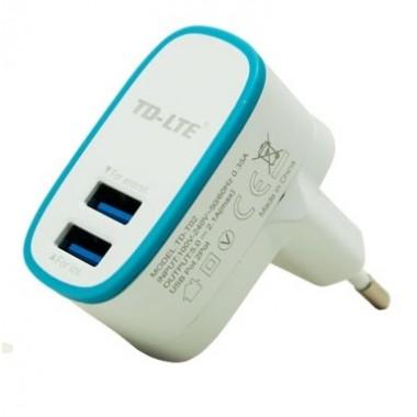 Vip Powerful TD-LTE TD-T02 Dual USB (2.1A) beli kućni punjač