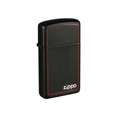 Zippo 1618ZB Slim Black Zippo Bor upaljač