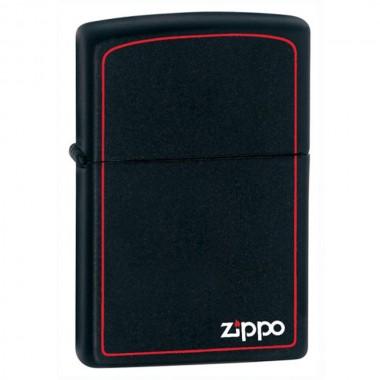 Zippo 218ZB Matte Black/Red Border upaljač