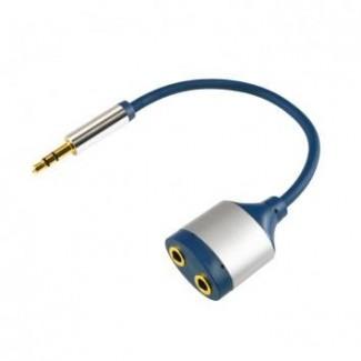 Adapter AC16M 3,5mm st.utik.-2x3,5mm st utic.15cm