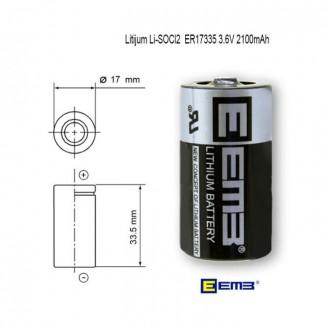 EEMB ER17335 3.6V 2100mAh industrijska litijumska baterija