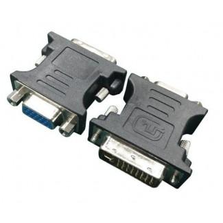 Gembird A-DVI-VGA-BK Adapter DVI-A 24-pin muški na VGA 15-pin HD (3 rows) ženski, crni DVI-I