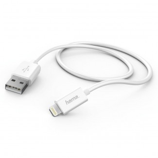 Hama 178330 USB za Apple IPhone MFI,Beli, 0,6m kabel
