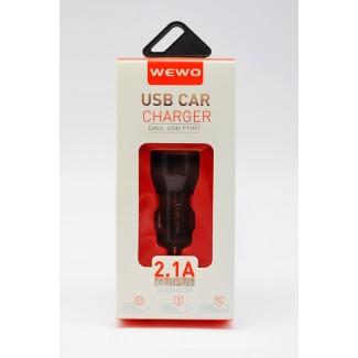 Vip Wewo C-11 2xUSB 2100 mAh crni auto punjač