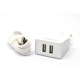Vip WEWO W-004 2 x USB 2400mA punjač + Type-C USB cabel