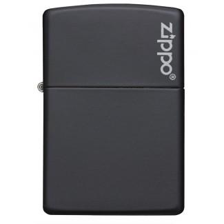 Zippo 218ZL Matte Black Zippo Logo upaljač
