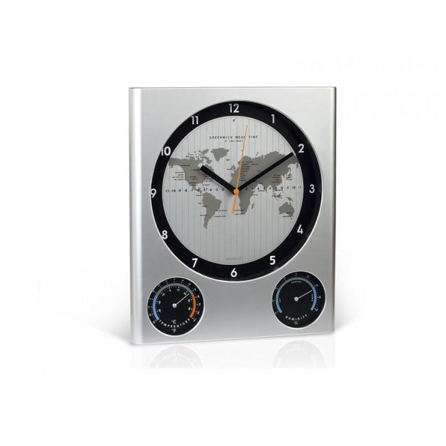 GLOBO 31.012.80 Zidni sat sa meračem temperature i vlažnost