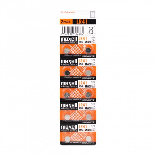 Maxell LR41/392/192/AG3 1.5V alkalna baterija