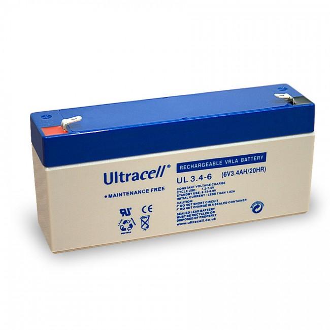 Ultracell UL3.4-6 6V 3.4Ah SLA stacionarni akumulator
