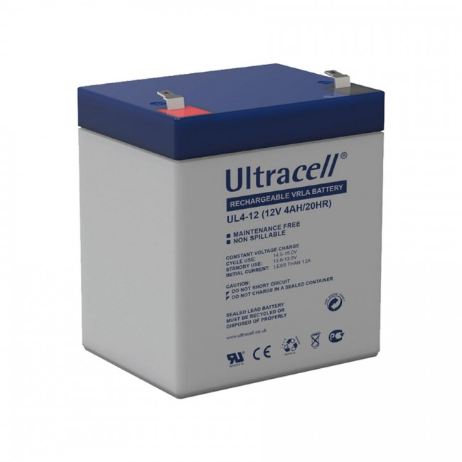 Ultracell UL4-12 12V 4Ah SLA stacionarni akumulator