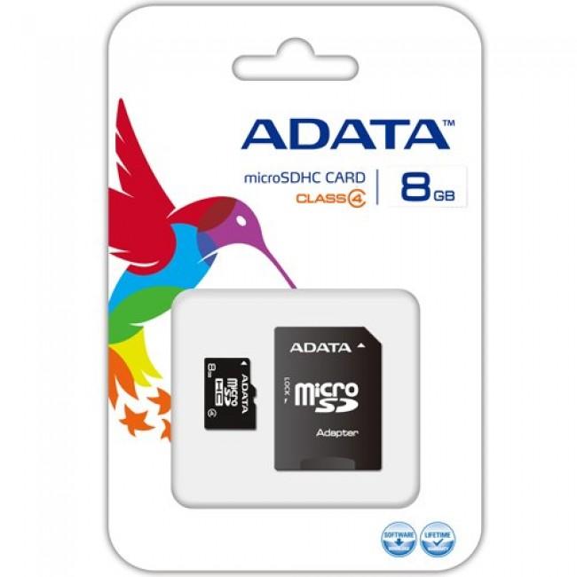 AData AUSDH8GCL4-RA1 Micro SD 8GB + SD adapter memorijska kartica