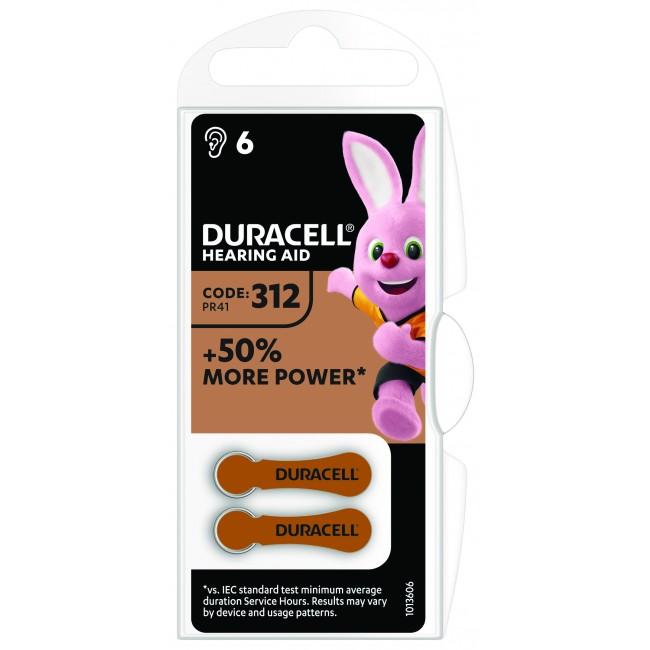 Duracell 312/PR41 1.45V baterija za slušni aparat