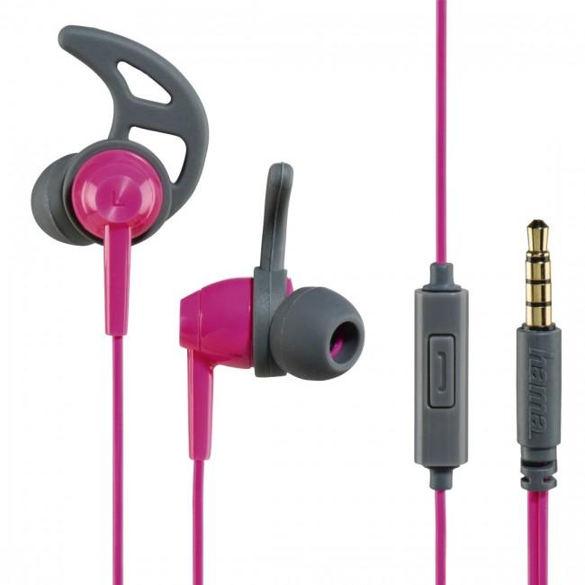 Hama 177022 Action pink/sive slušalice za smartfon