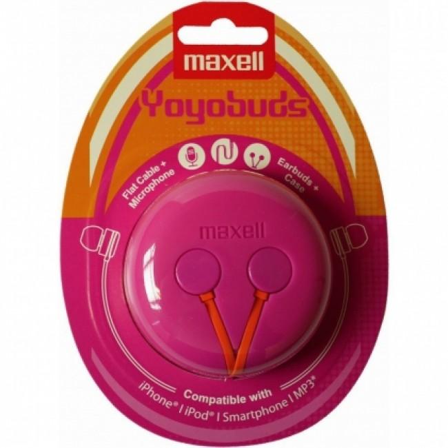 Maxell Yoyobuds pink/orange slušalice