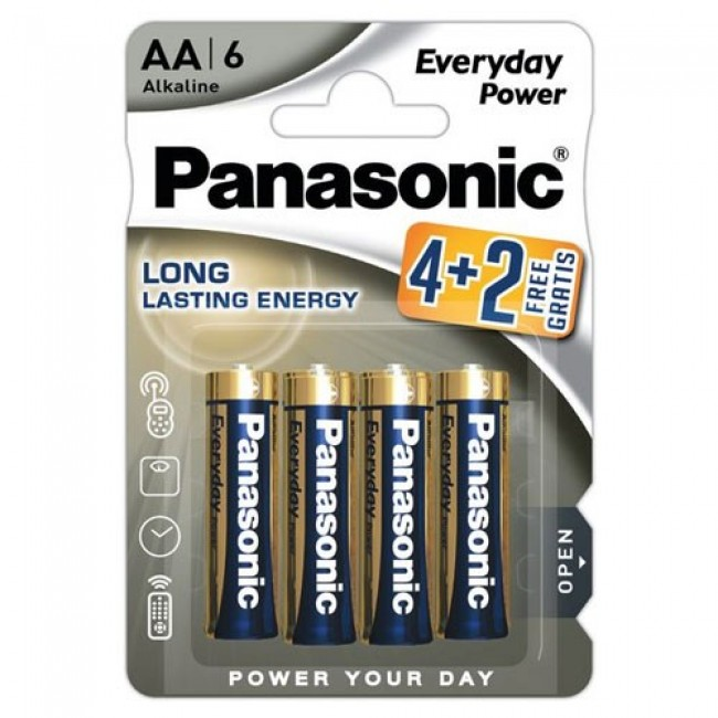 Panasonic Alkaline Everyday Power LR6 4+2 1.5V alkalna baterija
