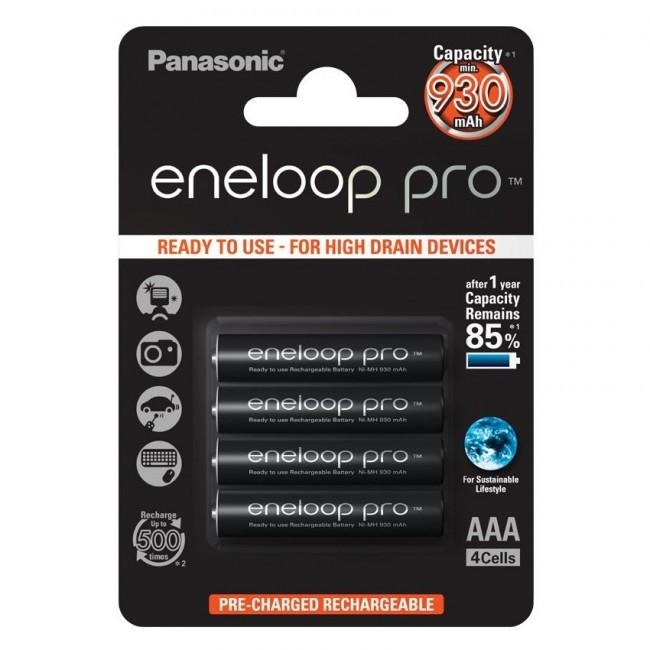 Panasonic eneloop Pro  AAA 1/4 1.2V 930mAh Ni-MH BK-4HCDE/4BE punjiva baterija