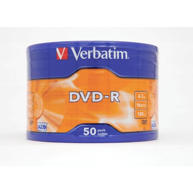 Verbatim DVD-R 16x 4.7GB 1/50 celofan